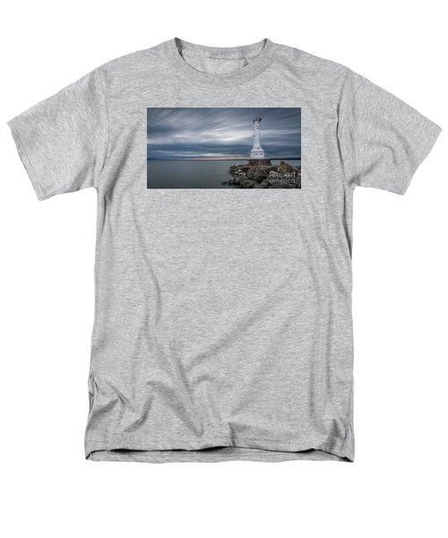 Huron Harbor Lighthouse Men's T-Shirt  (Regular Fit) by James Dean