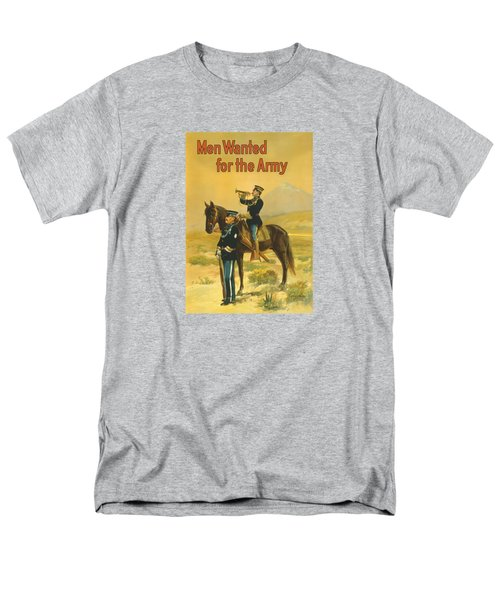 Men Wanted For The Army Men's T-Shirt  (Regular Fit) by War Is Hell Store