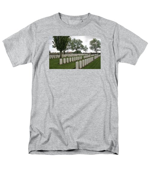 Men's T-Shirt  (Regular Fit) featuring the photograph Messines Ridge British Cemetery by Travel Pics