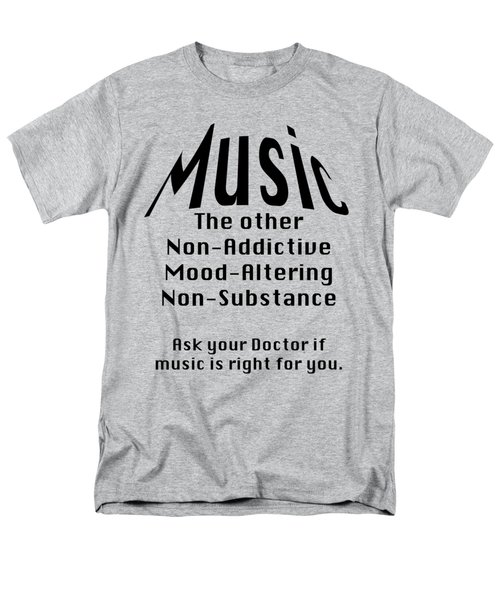 Music Is Right For You 5502.02 Men's T-Shirt  (Regular Fit) by M K  Miller