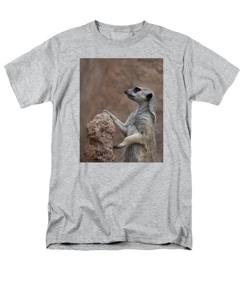 Pose Of The Meerkat Men's T-Shirt  (Regular Fit) by Ernie Echols