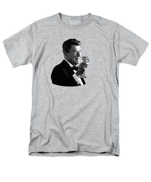 President Reagan Making A Toast Men's T-Shirt  (Regular Fit) by War Is Hell Store