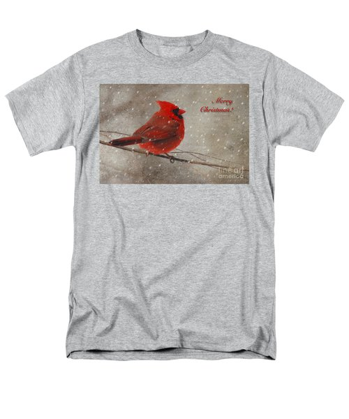Red Bird In Snow Christmas Card T-Shirt by Lois Bryan
