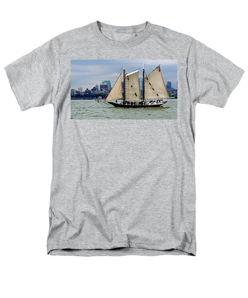 Schooner On New York Harbor 1 Men's T-Shirt  (Regular Fit) by Sandy Taylor