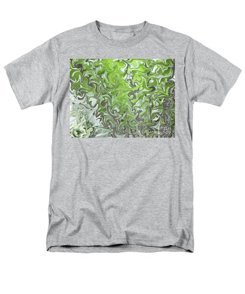 Soft Green and Gray Abstract T-Shirt by Carol Groenen