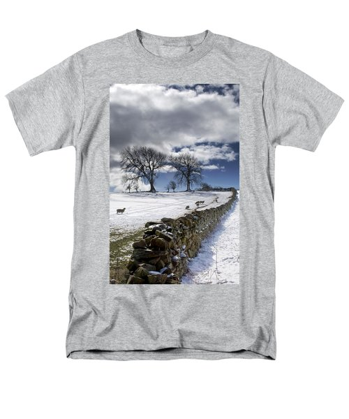 Stone Fence, Weardale, County Durham T-Shirt by John Short