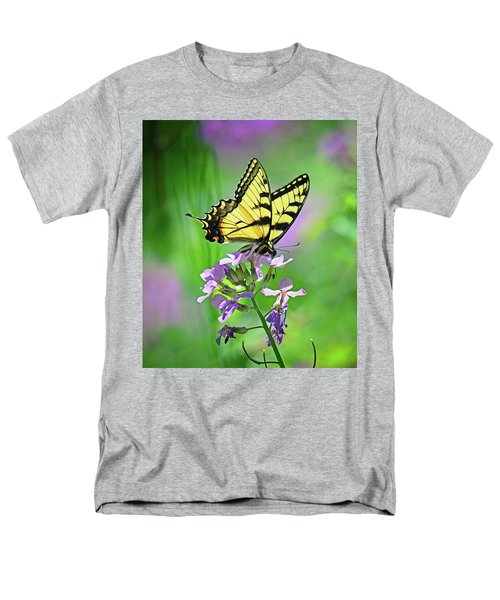 Men's T-Shirt  (Regular Fit) featuring the photograph Tiger Swallowtail by Rodney Campbell