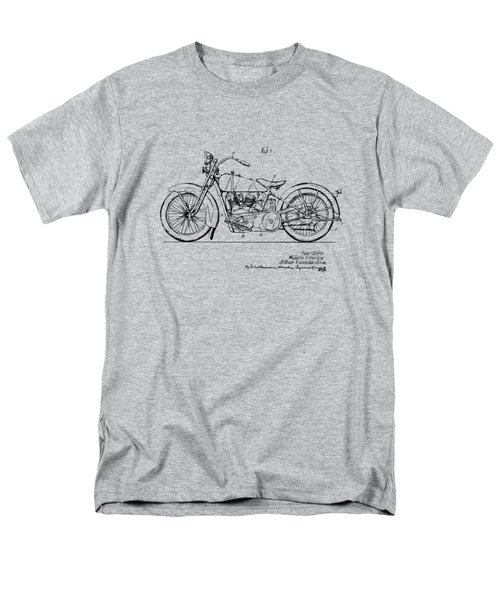 Vintage Harley-davidson Motorcycle 1928 Patent Artwork Men's T-Shirt  (Regular Fit) by Nikki Smith
