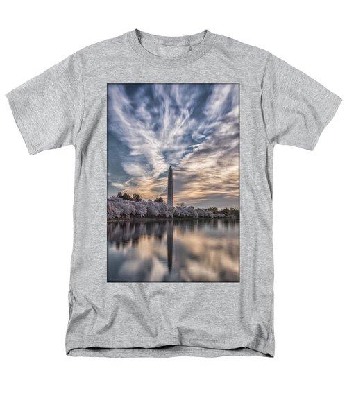 Washington Blossom Sunrise Men's T-Shirt  (Regular Fit) by Erika Fawcett