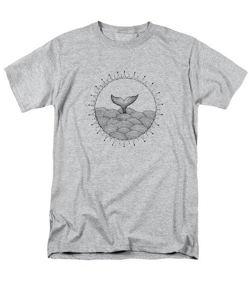Whale In Waves Men's T-Shirt  (Regular Fit) by Konstantin Sevostyanov
