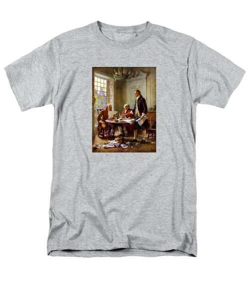 Writing The Declaration Of Independence Men's T-Shirt  (Regular Fit) by War Is Hell Store