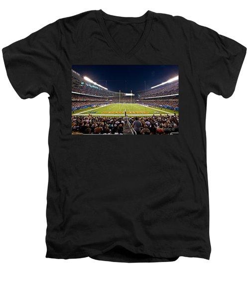 0588 Soldier Field Chicago Men's V-Neck T-Shirt by Steve Sturgill