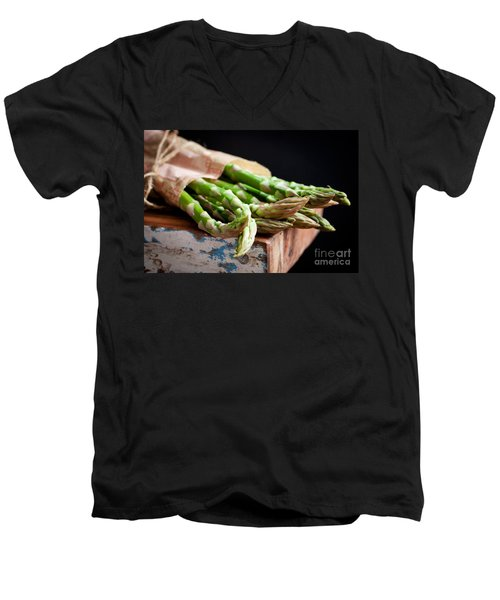 Asparagus Men's V-Neck T-Shirt by Kati Molin