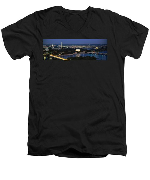 High Angle View Of A City, Washington Men's V-Neck T-Shirt by Panoramic Images