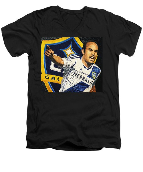 Landon Donovan Men's V-Neck T-Shirt by Taylan Apukovska