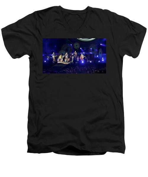 Coldplay - Sydney 2012 Men's V-Neck T-Shirt by Chris Cousins