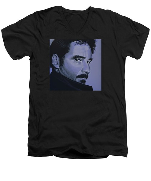 Kevin Kline Men's V-Neck T-Shirt by Paul Meijering