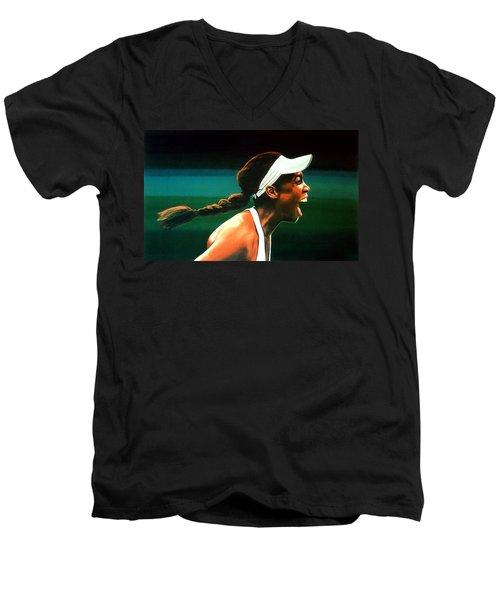 Venus Williams Men's V-Neck T-Shirt by Paul Meijering