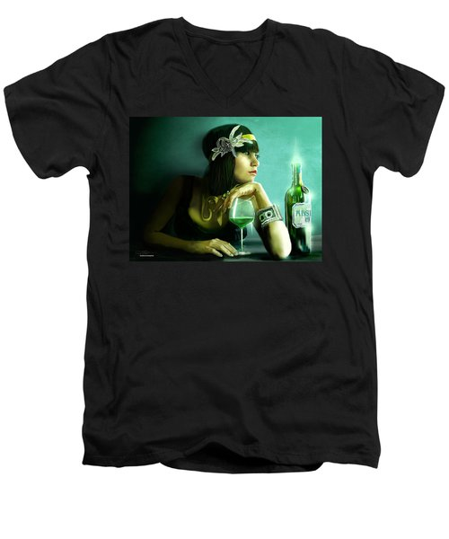 Absinthe Men's V-Neck T-Shirt by Jason Longstreet