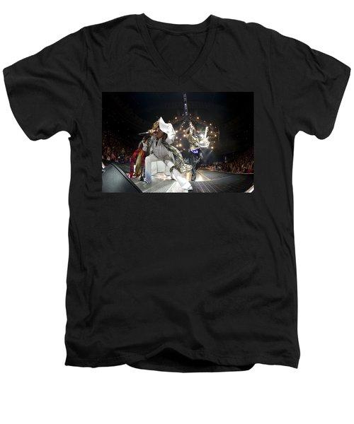 Aerosmith - On Stage 2012 Men's V-Neck T-Shirt by Epic Rights