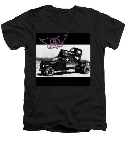 Aerosmith - Pump 1989 Men's V-Neck T-Shirt by Epic Rights