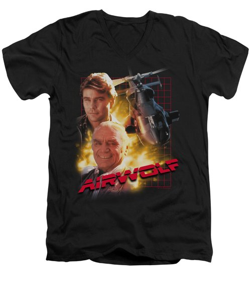 Airwolf - Airwolf Men's V-Neck T-Shirt by Brand A