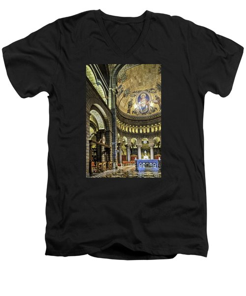 Altar Men's V-Neck T-Shirt by Maria Coulson