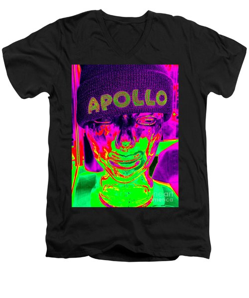 Apollo Abstract Men's V-Neck T-Shirt by Ed Weidman