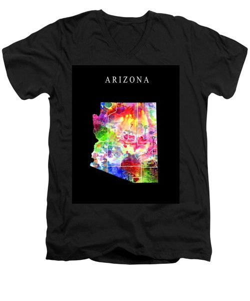 Arizona State Men's V-Neck T-Shirt by Daniel Hagerman
