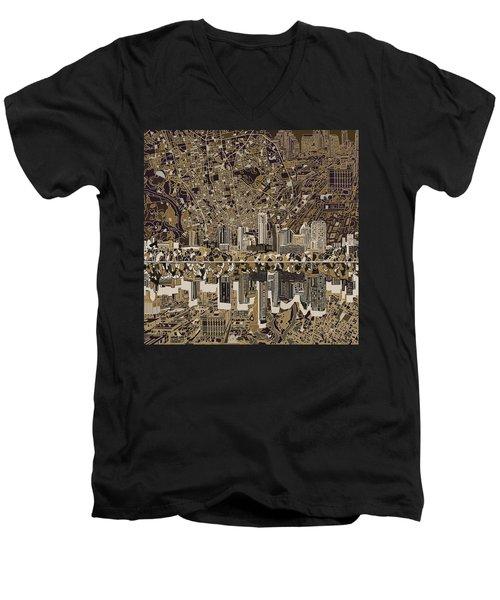 Austin Texas Skyline 5 Men's V-Neck T-Shirt by Bekim Art