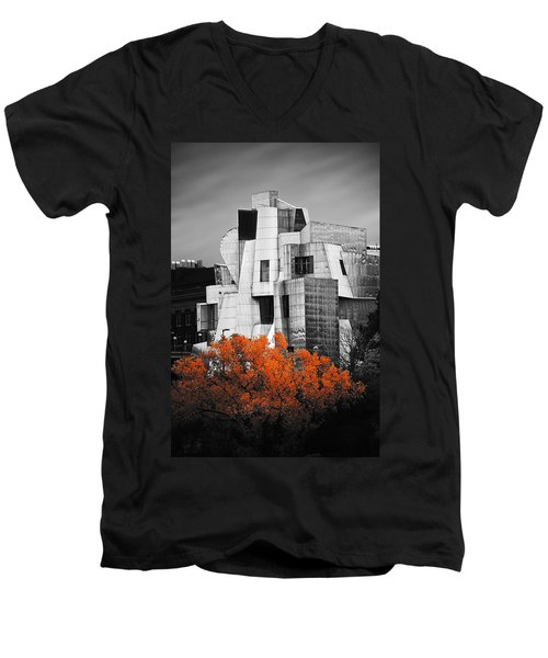 autumn at the Weisman Men's V-Neck T-Shirt by Matthew Blum