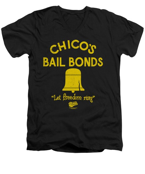 Bad News Bears - Chico's Bail Bonds Men's V-Neck T-Shirt by Brand A