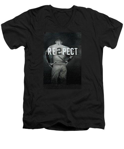 Baseball Men's V-Neck T-Shirt by Jewels Blake Hamrick