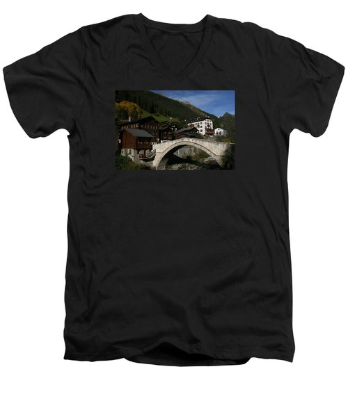 Men's V-Neck T-Shirt featuring the photograph Binn by Travel Pics