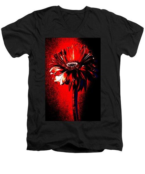 Bloody Mary Zinnia Men's V-Neck T-Shirt by Sherry Allen