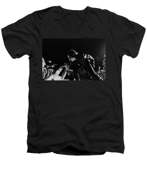 Bono 051 Men's V-Neck T-Shirt by Timothy Bischoff