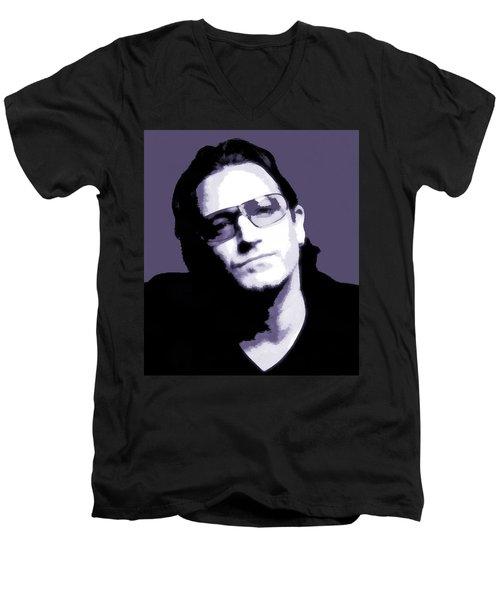 Bono Portrait Men's V-Neck T-Shirt by Dan Sproul