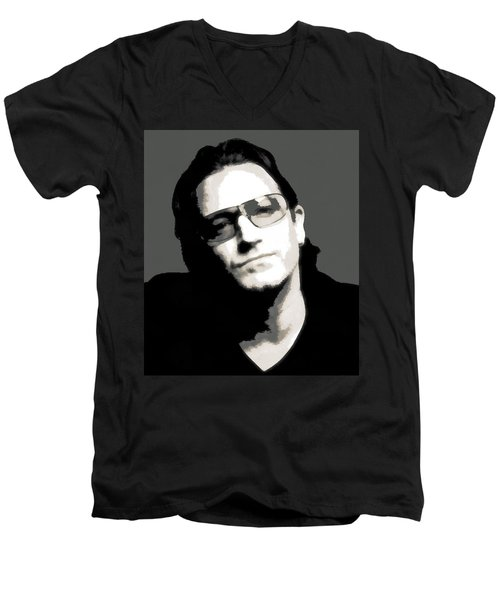 Bono Poster Men's V-Neck T-Shirt by Dan Sproul