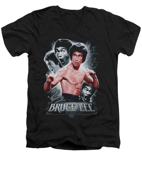 Bruce Lee - Inner Fury Men's V-Neck T-Shirt by Brand A