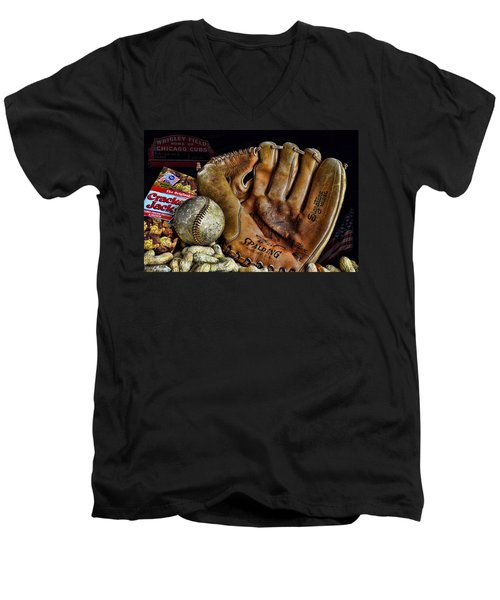 Buy Me Some Peanuts And Cracker Jacks Men's V-Neck T-Shirt by Ken Smith