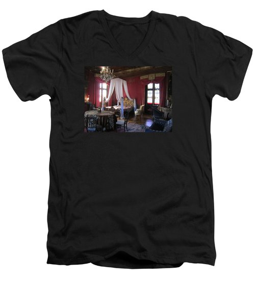 Men's V-Neck T-Shirt featuring the photograph Chateau De Cormatin by Travel Pics