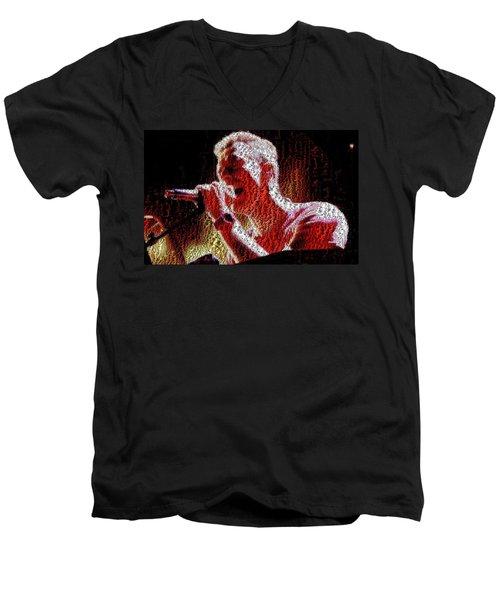 Chris Martin - Montage Men's V-Neck T-Shirt by Chris Cousins