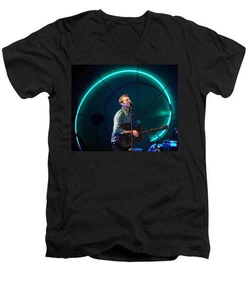 Coldplay Men's V-Neck T-Shirt by Rafa Rivas