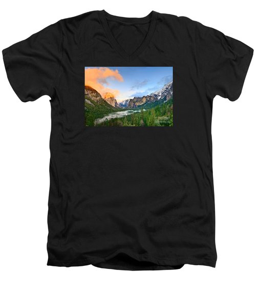 Colors Of Yosemite Men's V-Neck T-Shirt by Jamie Pham