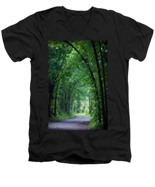 Country Lane Men's V-Neck T-Shirt by Cricket Hackmann