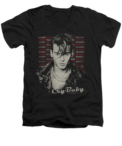 Cry Baby - Drapes And Squares Men's V-Neck T-Shirt by Brand A