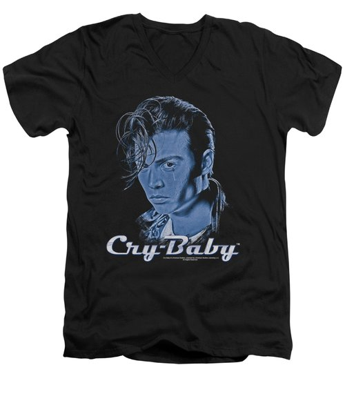Cry Baby - King Cry Baby Men's V-Neck T-Shirt by Brand A
