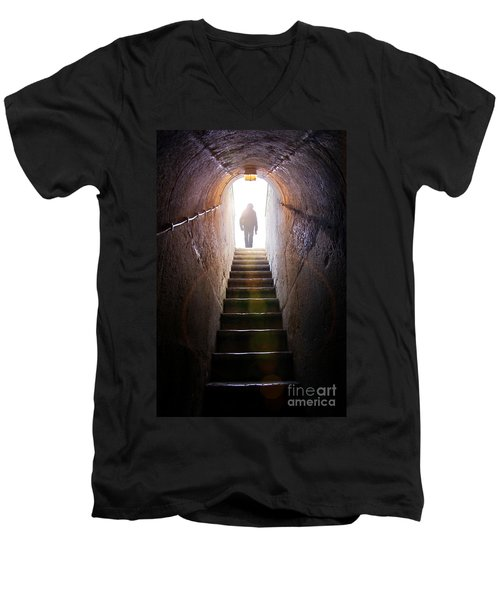 Dungeon Exit Men's V-Neck T-Shirt by Carlos Caetano
