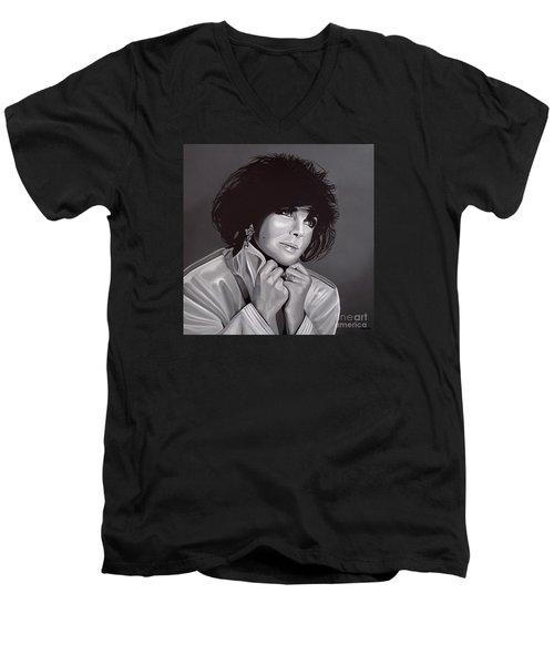 Elizabeth Taylor Men's V-Neck T-Shirt by Paul Meijering