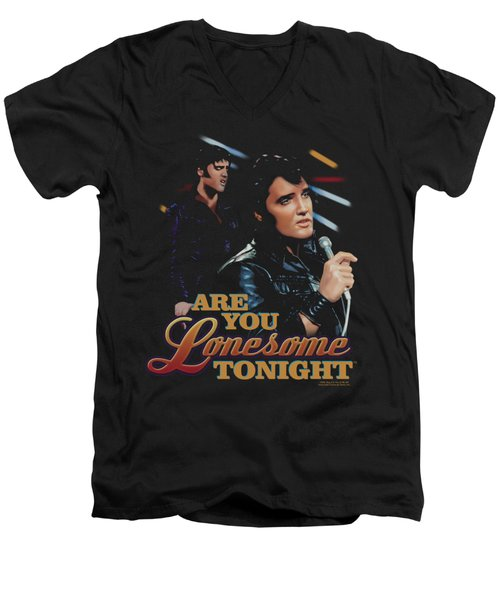 Elvis - Are You Lonesome Men's V-Neck T-Shirt by Brand A
